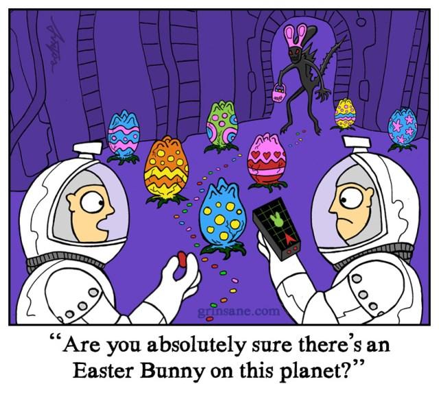 Alien Easter Egg cartoon