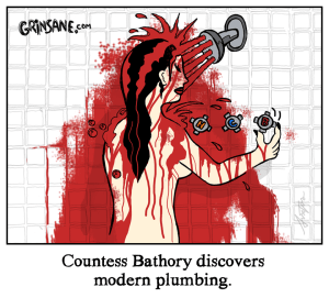 Countess Bathory Shower Cartoon