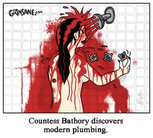 Countess Bathory Shower Cartoon