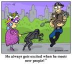 Black Mirror Metalhead Robot Dog Cartoon Illustration