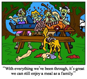Zombie Picnic Cartoon