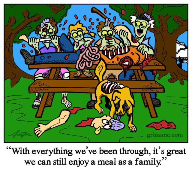 Zombie Picnic Cartoon
