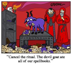 Devil Goat Cartoon