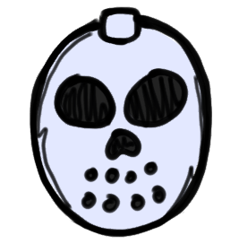 Jason Hockey Mask Cartoon