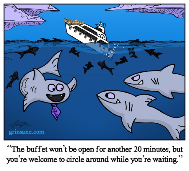 Seafood Buffet Shark Week Cartoon