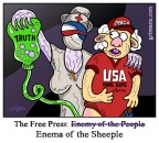 Silent Hill Freedom of Press Sheeple Cartoon