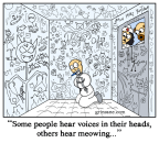 Grinsane Cat Asylum Cartoon