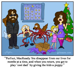 J.R. MacReady the Thing Illustration Cartoon