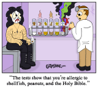 Allergy Test Cartoon