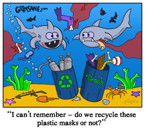 Ocean Cleanup Shark Cartoon