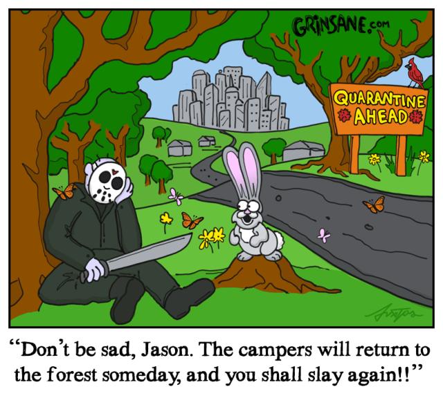 Jason Voorhees Quarantine Cartoon