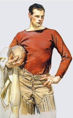Football Player by J.C. Leyendecker, 1913
