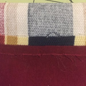 Photo of Pocket facing and lining, stitched and pressed open