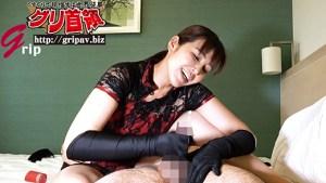 前立腺&亀頭電マ責めサテン手袋手コキ