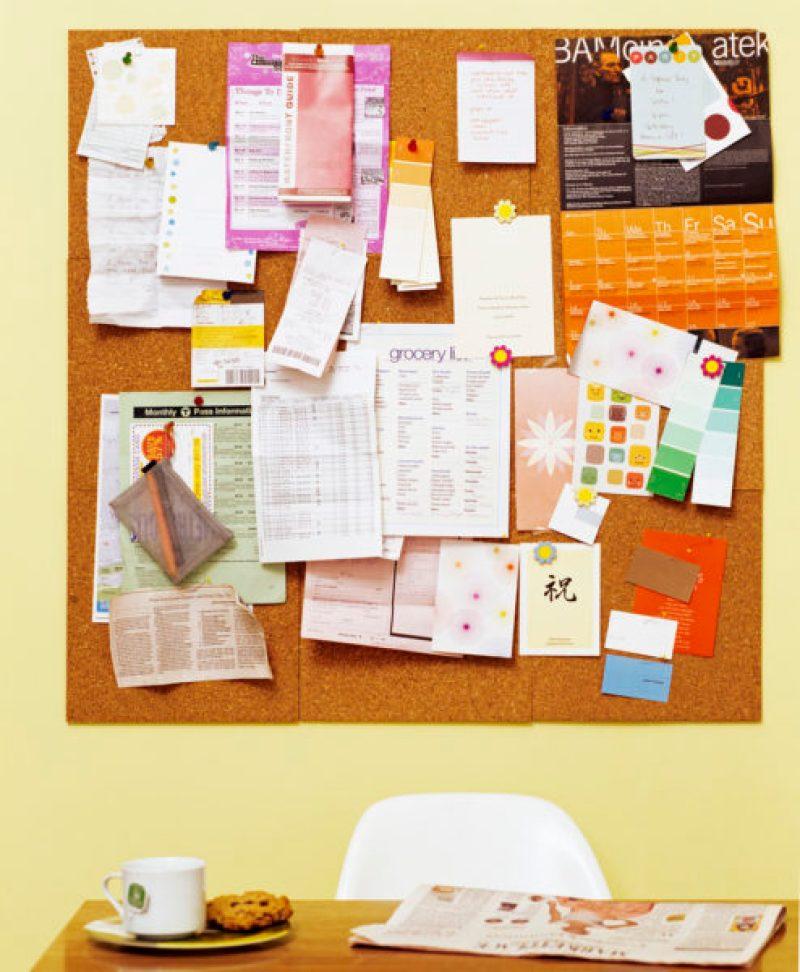 cork board wedding ideas