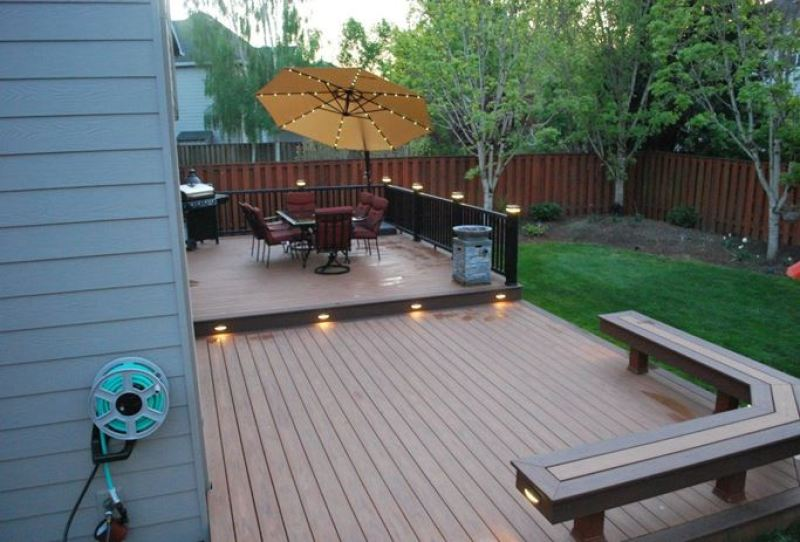 small deck landscaping ideas