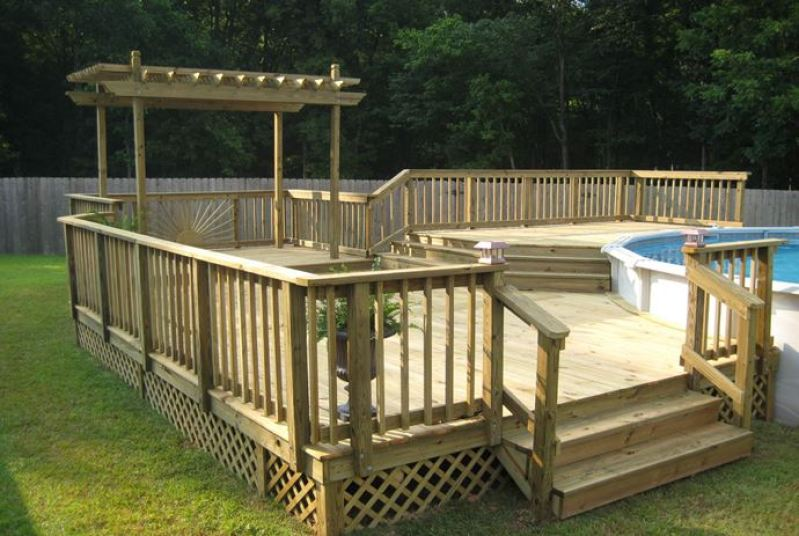 small deck and pool ideas