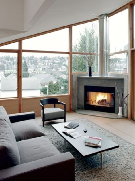 Ultra-Modern fireplace