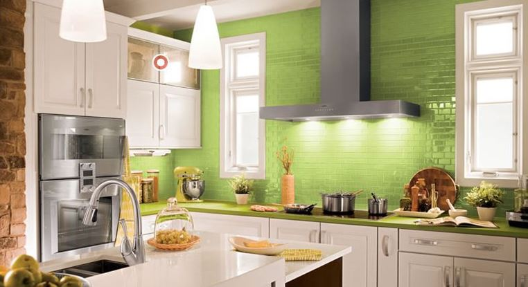 green kitchen farmhouse