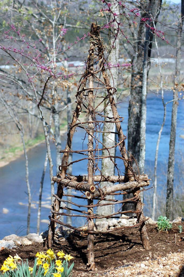 rustic wooden trellis