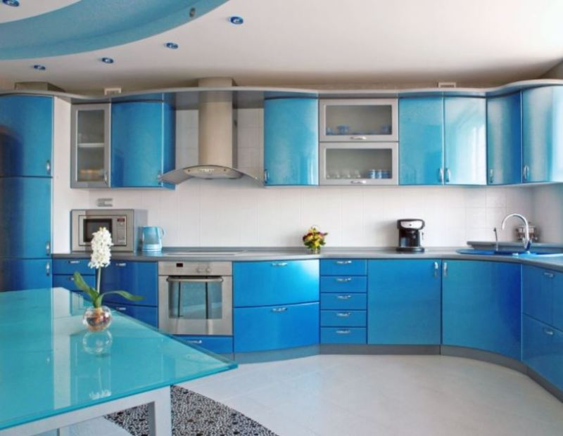 shiny kitchen cabinet