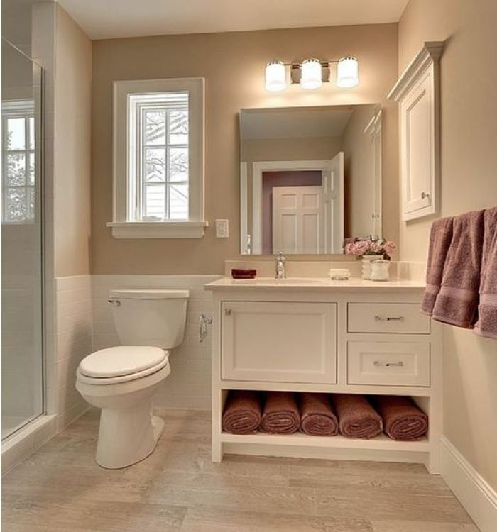 traditional basement bathroom