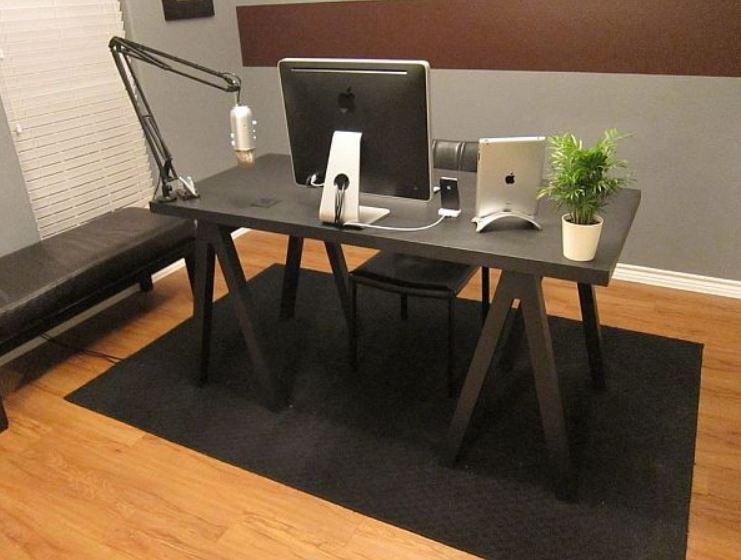 DIY Computer Desk Plans With Sawhorse Legs