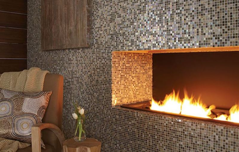 Accent Wall Tile Ideas Dining Room