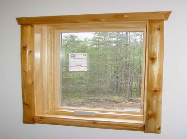 wood window trim ideas
