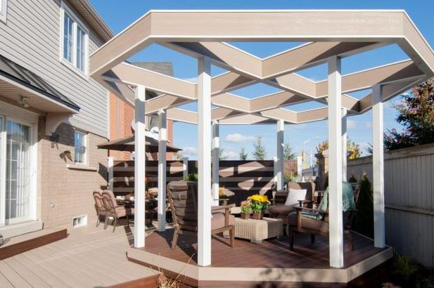 half covered deck ideas
