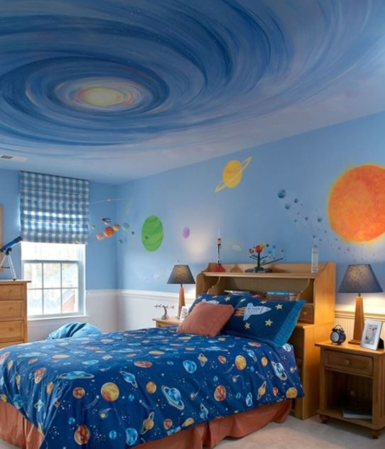 space themed children's rooms