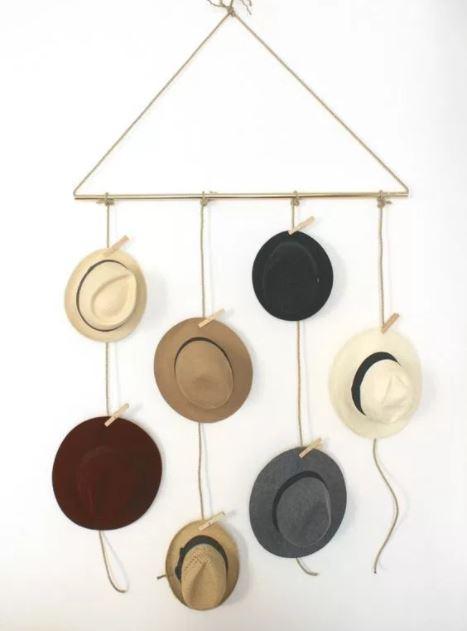 hat rack wall ideas