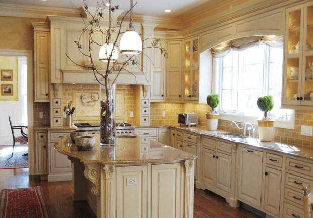 Cabinets with Golden Accent