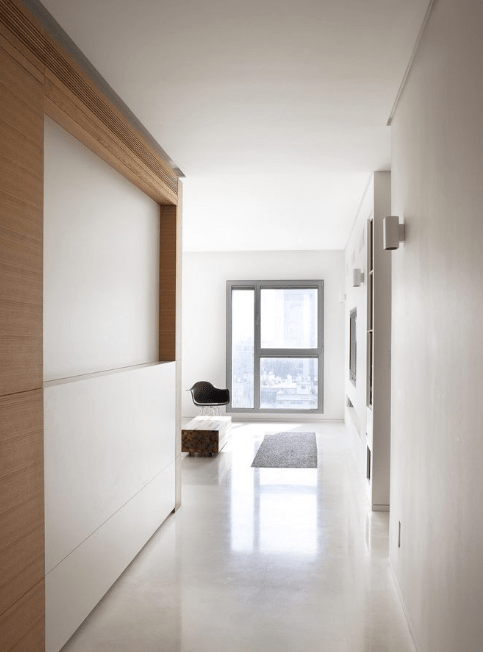 Minimalistic hallway