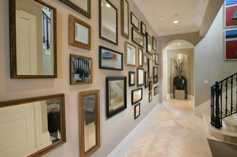 Mirror display hallway