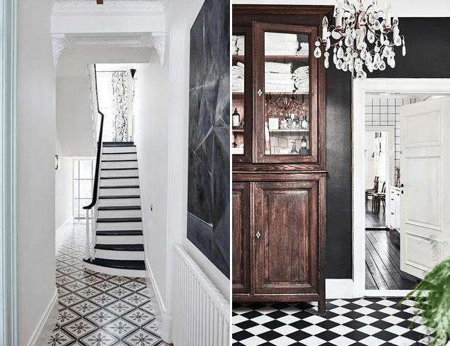 Monochrome hallway