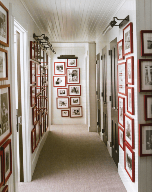 Photo gallery hallway