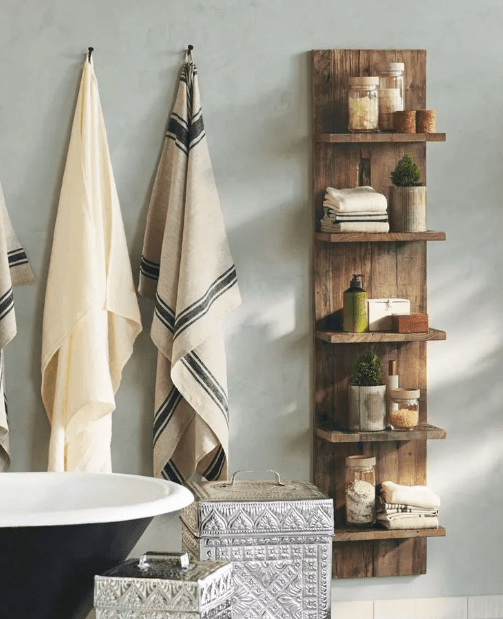 The Pallet for Bathroom Shelf Ideas