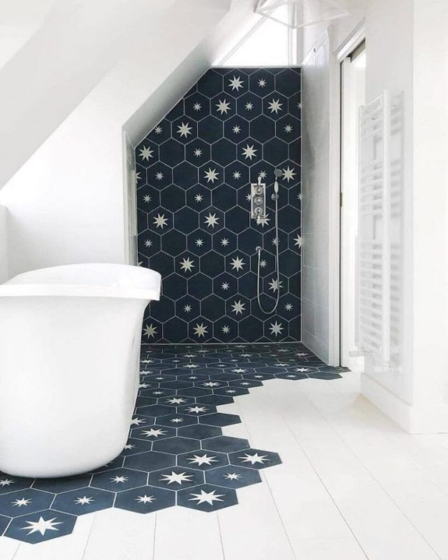 Blue Bathroom Tile Floor Ideas