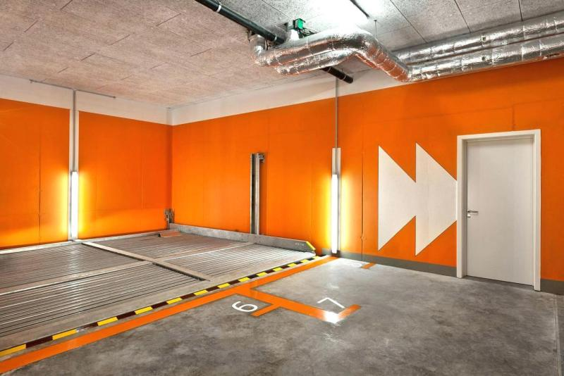 Bold Orange Garage Ideas