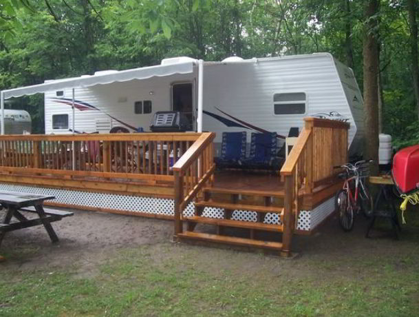 RV Deck with Trailer Concept