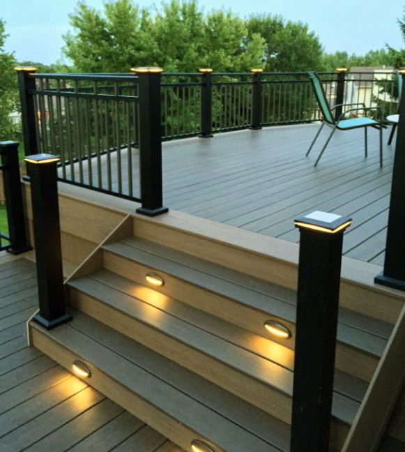 Solar deck with Step Lights