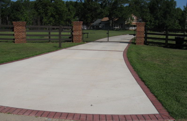 Best brick driveway edging