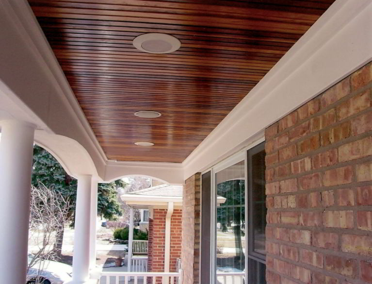 Porch ceiling design
