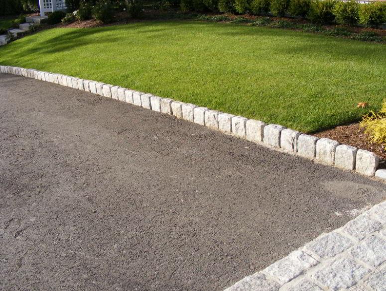 stone driveway edging ideas