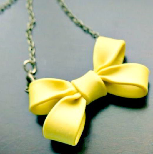 Clay Bow Necklace Craft Ideas