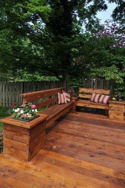 Cool deck bench