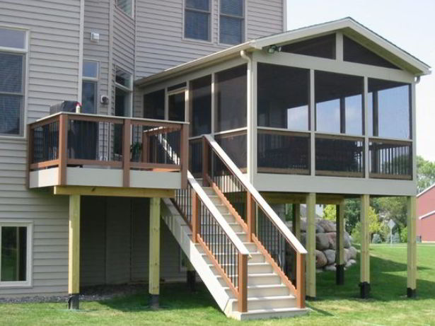 Deck with Covered Floor Idea