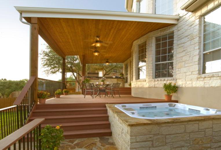 Nature Hot Tub Deck Idea