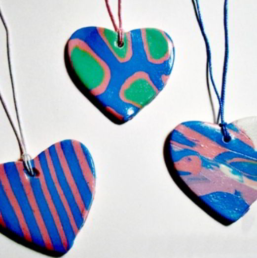 Polymer Clay Heart Craft